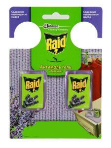 Raid гель Антимоль с маслом Лаванды 3.3мл 2шт