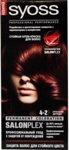 Syoss Краска для волос 4-2 Красное дерево 50мл