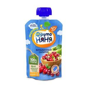 Фруто Няня пюре Витаминный салатик 5+ 90мл