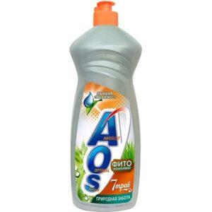 AOS cредство для мытья посуды Природная забота 7 трав 450гр