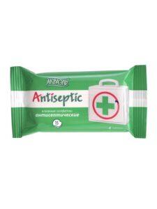 Aquaelle салфетки влажные Антисептические 15шт