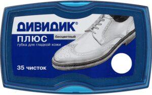 Дивидик губка для обуви Плюс Бесцветная 1шт