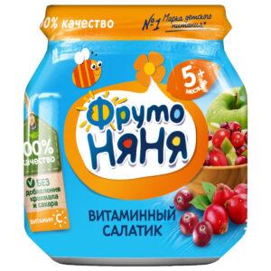 Фруто Няня пюре Витаминный салатик 5+ банка 100мл