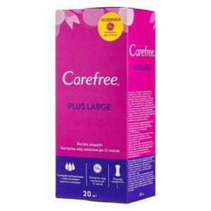 Carefree ежедневные прокладки Plus Large с ароматом Свежести 20шт