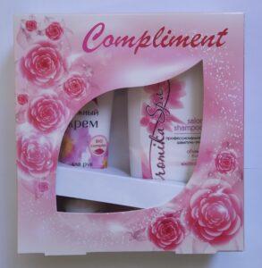 Compliment Подарочный набор крем для рук 100мл+шампунь 200мл