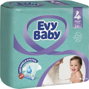 Evy Baby Подгузники Maxi 7-18кг №4 24шт