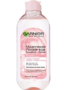 Garnier Мицеллярная розовая вода снимает макияж+ очищает+придаёт сияние 400мл