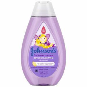Johnson's Baby Шампунь детский Сильные локоны с витамином Е 300мл