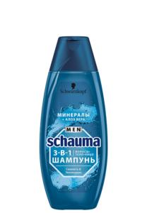 Schauma Men шампунь 3в1 Свежесть и Увлажнение Минералы и Алоэ вера 400мл