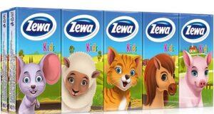 Zewa Kids Носовые платочки Детские 3х слойные 10шт