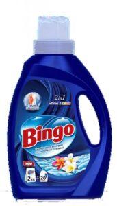 BINGO жидкий порошок для стирки Whites&Colors 1000мл