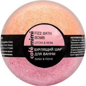 Cafe Mimi бурлящий шарик для ванны Личи и Нони 120гр