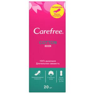 Carefree ежедневные прокладки Cotton Fresh 20шт