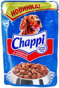 Chappi собачий корм с Говядиной по домашнему в соусе 85гр