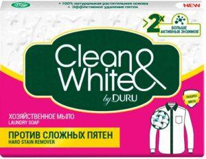 DURU Хозяйственное мыло Clean&White против сложных пятен 125гр