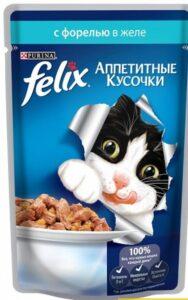 Felix кошачий корм с Форелью в желе 85гр
