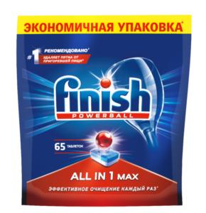 Finish Таблетки для Посудомоечных Машин 65шт