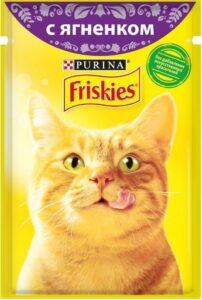 Friskies кошачий корм с Ягнёнком в подливе 85гр