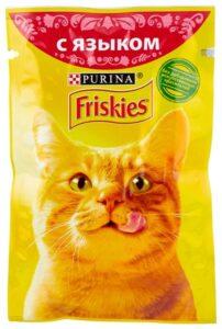 Friskies кошачий корм с Языком в подливе 85гр