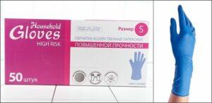 Household Gloves перчатки латексные S 1шт