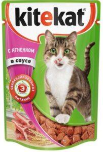 Kitekat кошачий корм с Ягнёнком в соусе 85гр