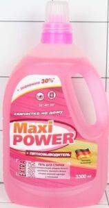 Maxi Power Гель для стирки белья Химчистка+Пятновыводитель 3300мл