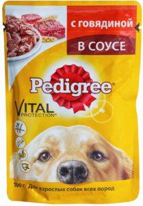 Pedigree собачий корм с Говядиной в соусе 85гр