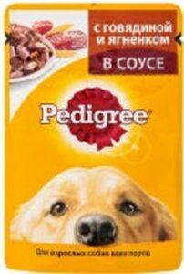 Pedigree собачий корм с Говядиной и Ягнёнком в соусе 85гр