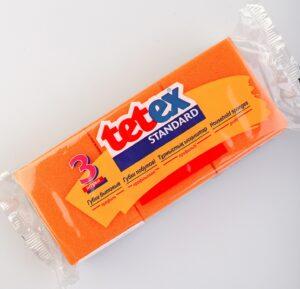 Tetex губки для мытья посуды Standard 3шт