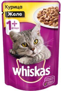 Whiskas кошачий корм с Курицей в желе 85гр