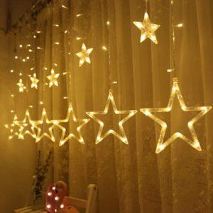 Гирлянда Звёзды (тёплый свет) 2,8х0,8м 1шт