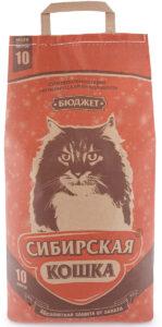 Сибирская Кошка наполнитель Впитывающий Бюджет 10л