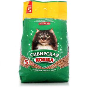 Сибирская Кошка наполнитель Впитывающий Лесной 5л