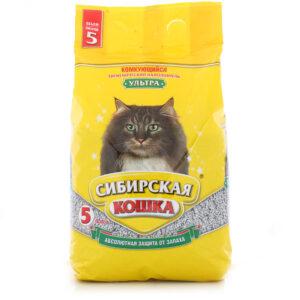 Сибирская Кошка наполнитель Комкующийся Ультра 5л
