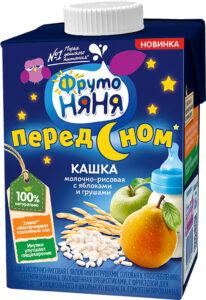 Фруто Няня кашка молочно-рисовая перед сном Яблоко Груша 0.5л