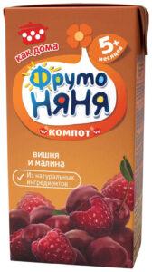 Фруто Няня компот Вишня Малина 200мл