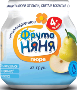 Фруто Няня пюре Груша 4+ банка 100мл