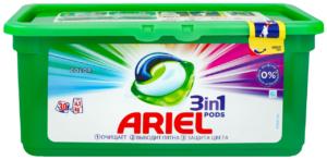 ARIEL Средство моющее в растворимых капсулах Color с ароматом Lenor 30шт