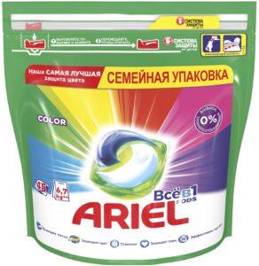 ARIEL Средство моющее в растворимых капсулах Color 45шт