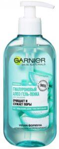 Garnier гель-пенка для умывания Очищение и Сужение пор Гиалуроновый алоэ 200мл