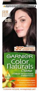 Garnier Color Naturals Краска для волос №3.12 Ледяной тёмный шатен 110мл