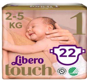 Libero Touche подгузники 2-5кг №1 22шт
