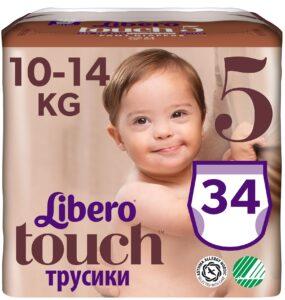 Libero Touche трусики 10-14кг №5 34шт