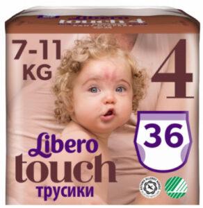 Libero Touche трусики 7-11кг №4 36шт
