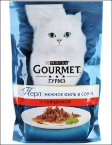 Purina гурмэ кошачий корм Говядина в соусе 85гр