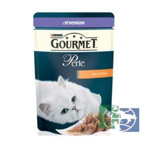 Purina гурмэ кошачий корм Ягнёнок в соусе 85гр
