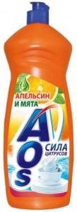 AOS средство для мытья посуды Апельсин и мята 900гр
