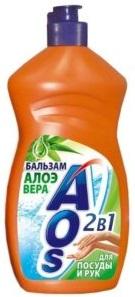 AOS средство для мытья посуды Бальзам Алоэ Вера 450гр