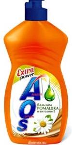 AOS средство для мытья посуды Бальзам ромашка и Вит.Е 900гр