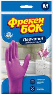 Фрекен Бок перчатки М резиновые Суперпрочные 1шт